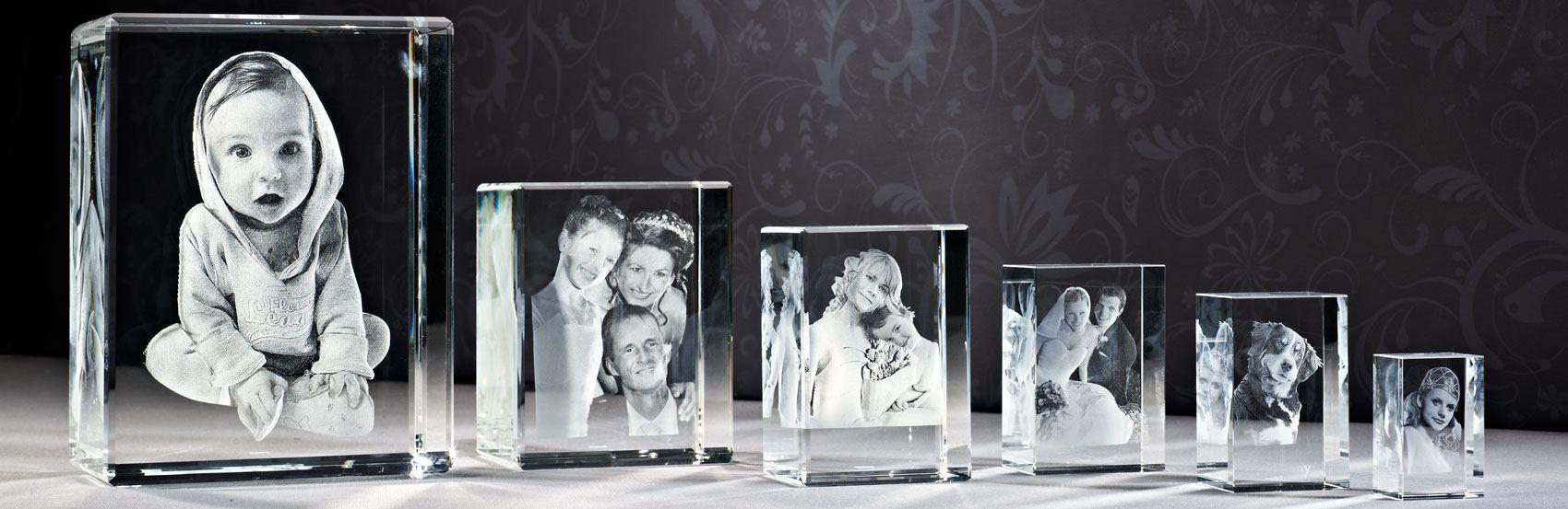 3D Foto in glas