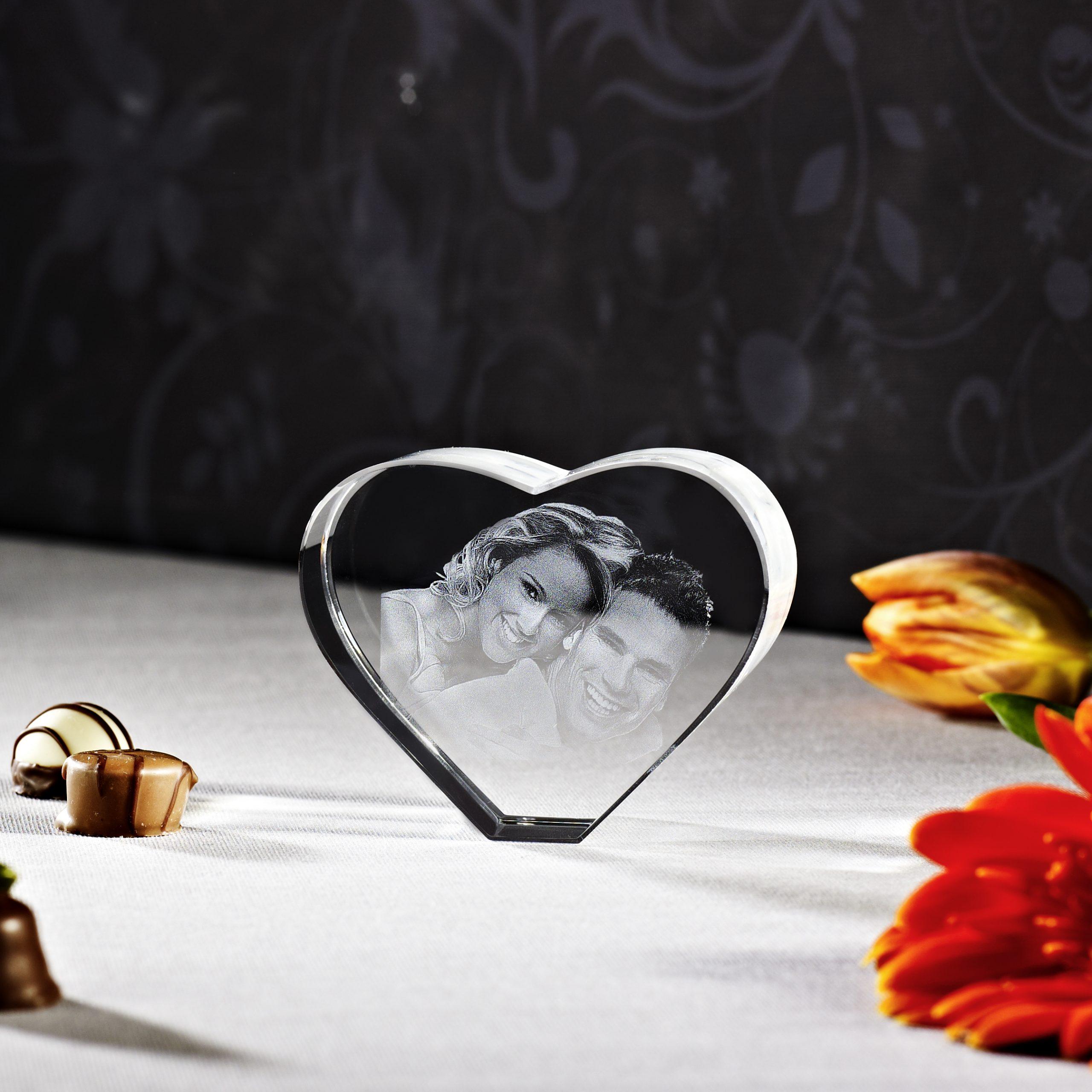 3D Glasfoto Hart L